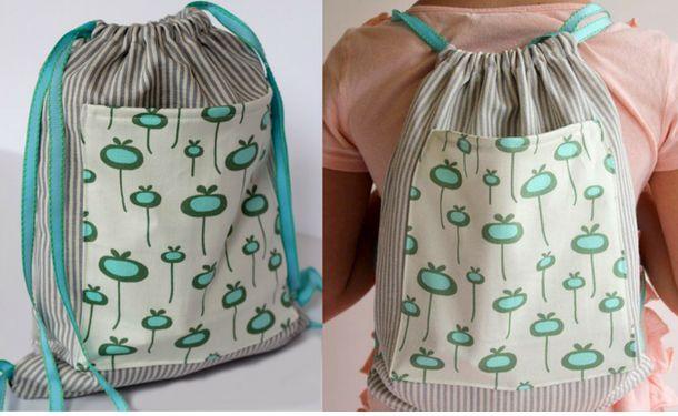 Рюкзак-мешок из футболок