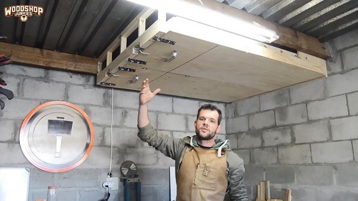 Как сделать подвесные полки в гараже или мастерской которые не занимают место