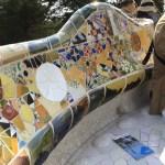 公園のベンチも彼の作品
