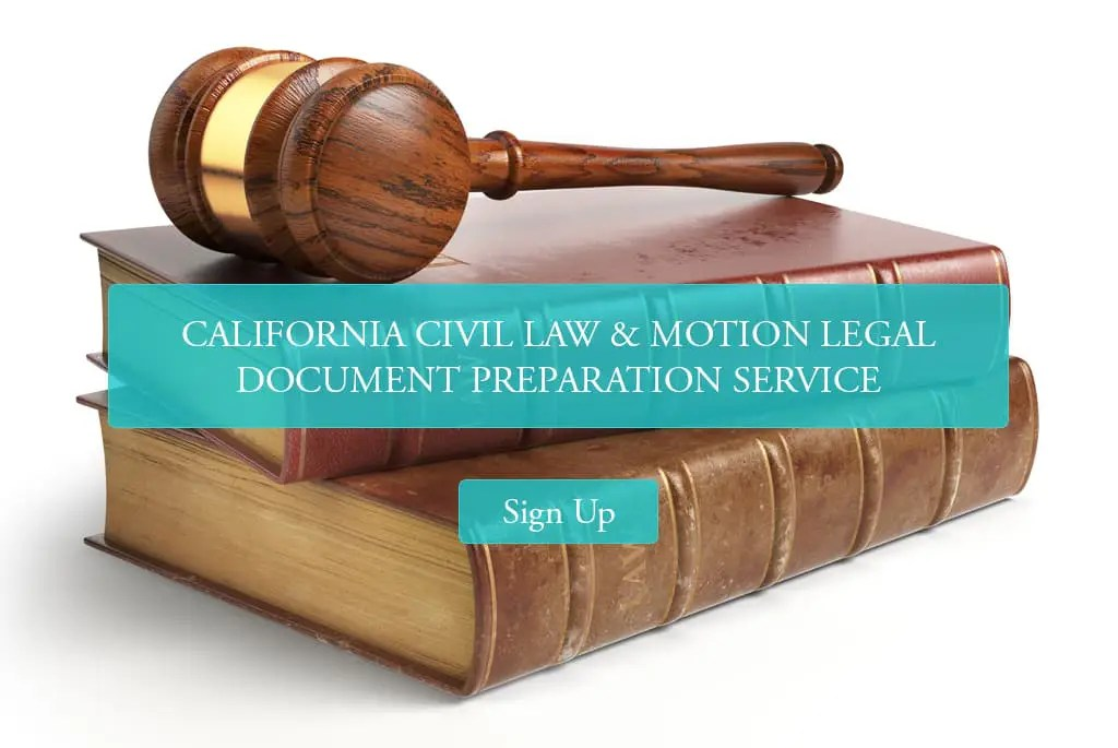 California Civil Law & Motion Document Preparation Service