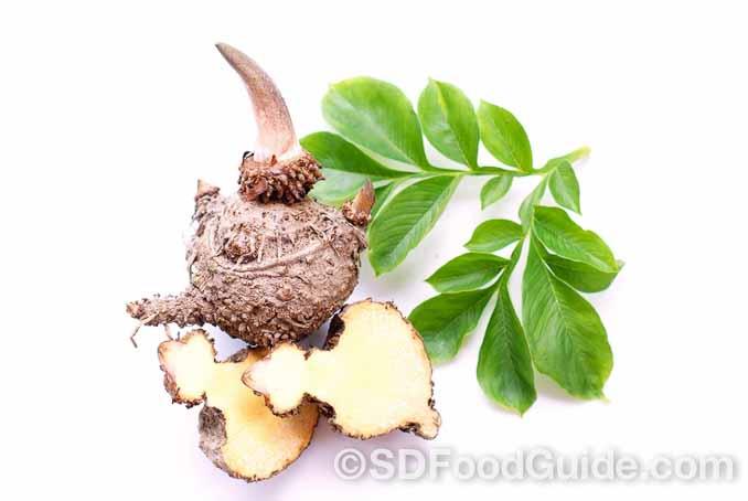 魔芋根(蒟蒻块茎)富含具有高度黏性和膨胀力的水溶性纤维,可让人吃得更少。(shutterstock)