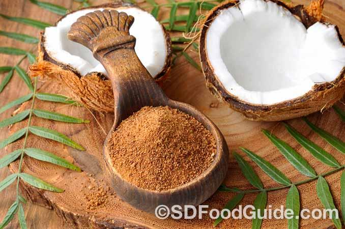 可替代砂糖的天然糖-椰子糖coconut sugar。(fotolia)