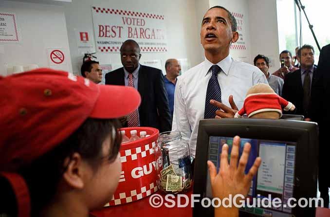 总部设于华盛顿附近的Five Guys深受平民总统奥巴马的喜爱。