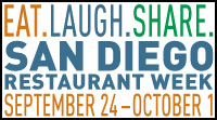圣地亚哥2017年秋季餐馆周San Diego Restaurant Week将于9月24日开锣!(图片来自官网)