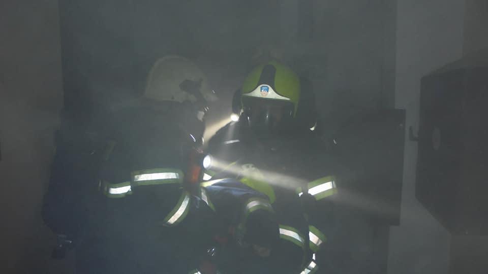 Požár výškové budovy