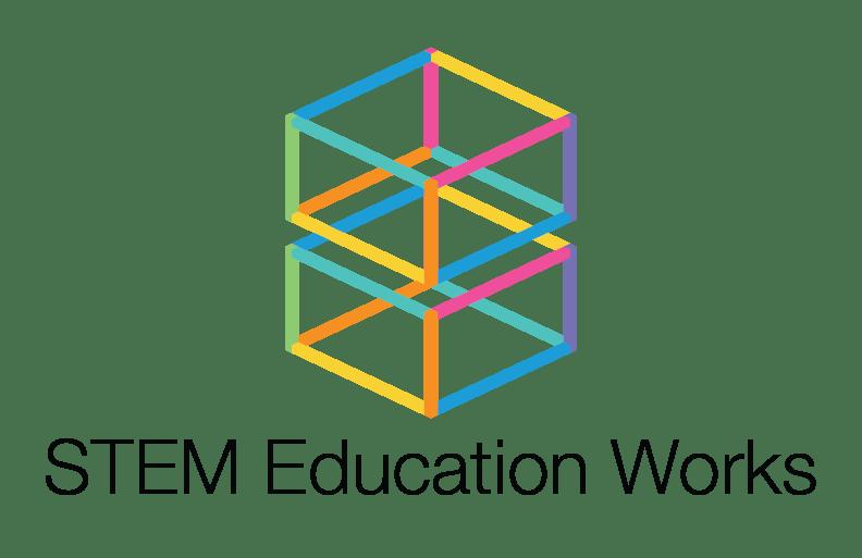 STEM Education Works vertical logo.