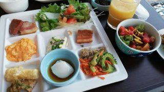 子どもと楽しむ沖縄料理 ホテルオーシャン那覇国際通りの朝食バイキングが楽しい!