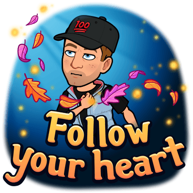 bitmoji follow your heart