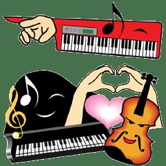 楽器キャラ大集合(ピアノ、バイオリン等)