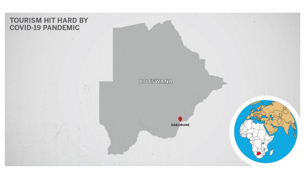 Map of Gaborone, Botswana.