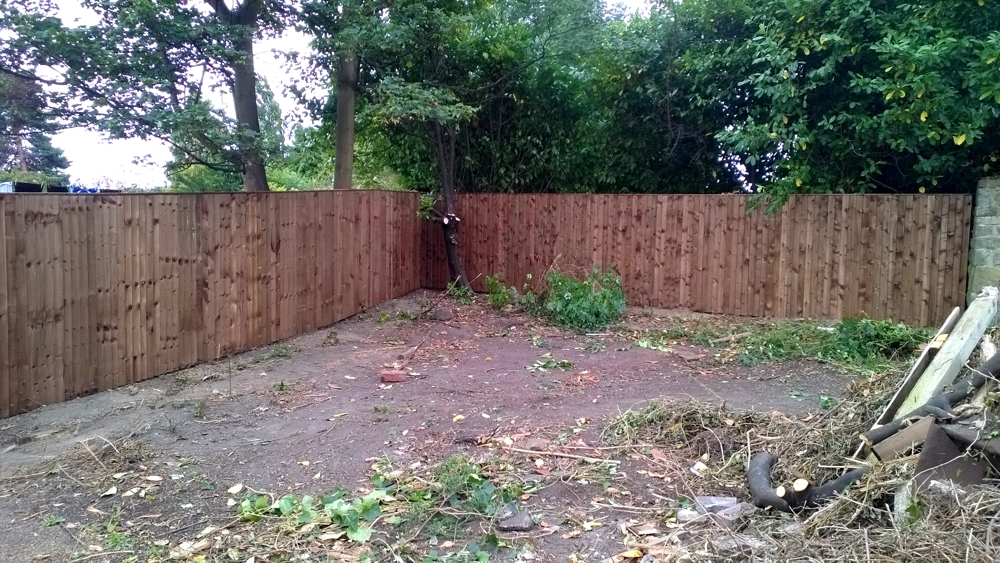 Feather edge fencing 1