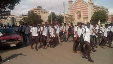 مظاهرات طلابية ببورتسودان إحتجاجاً على أزمة الخبز