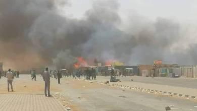 حريق هائل في معبر أرقين الحدودي