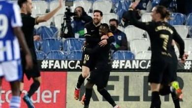 برشلونة يسحق ريال سوسيداد بسداسية في عقر داره