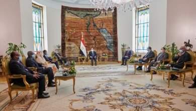 الرئيس المصري يستقبل عبد الله حمدوك