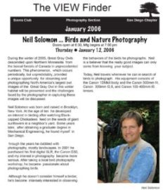 January 2006 Viewfinder Photo Club Newsletter