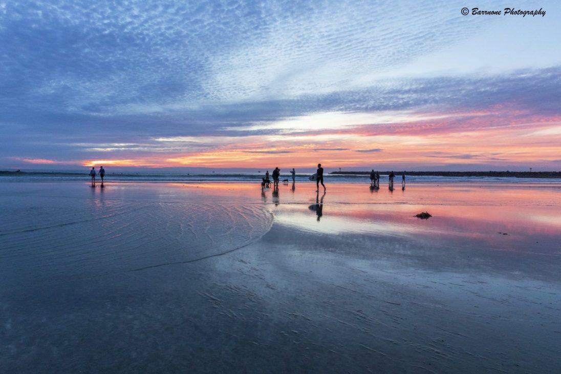 Rick Barr - Beach, Surfers, Sunset