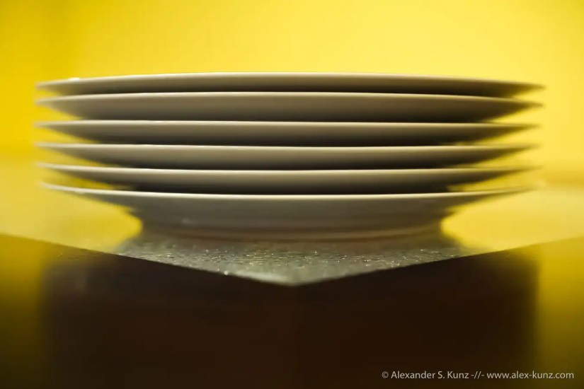 Stacked Plates (photographed with a prime lens and limited depth of field)