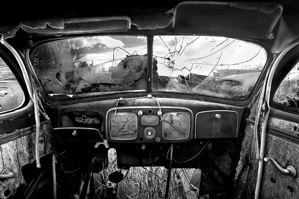 Cole Thompson -- Old Car Interior, 2004