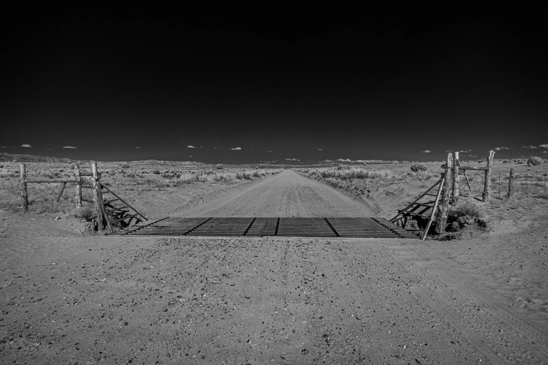 Bill Chatwell - Infrared dirt road Grand Staircase National Monument UT