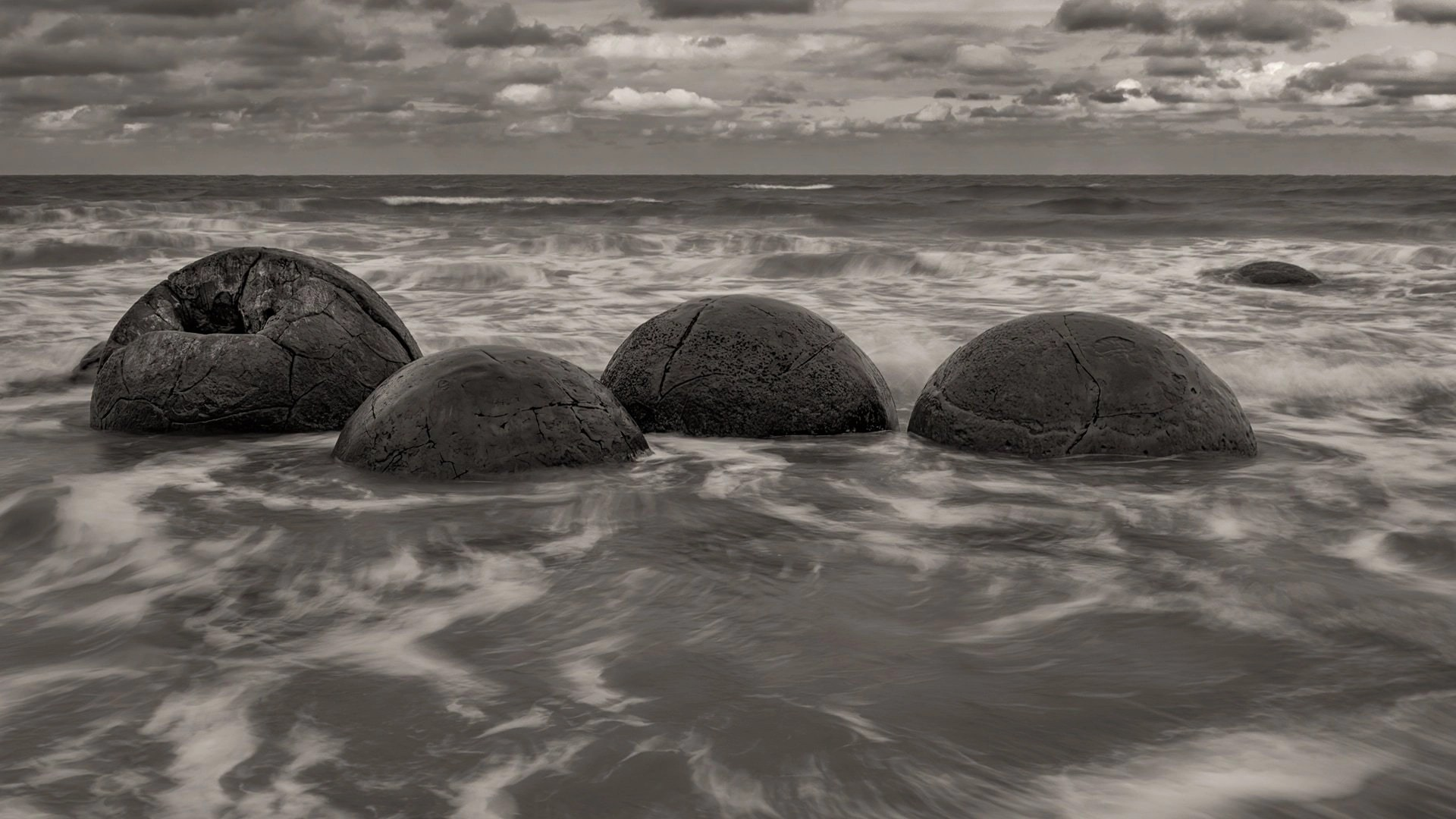 Bill Chatwell: Moeraki Boulders located on the East Coast of New Zealand, March 2018.