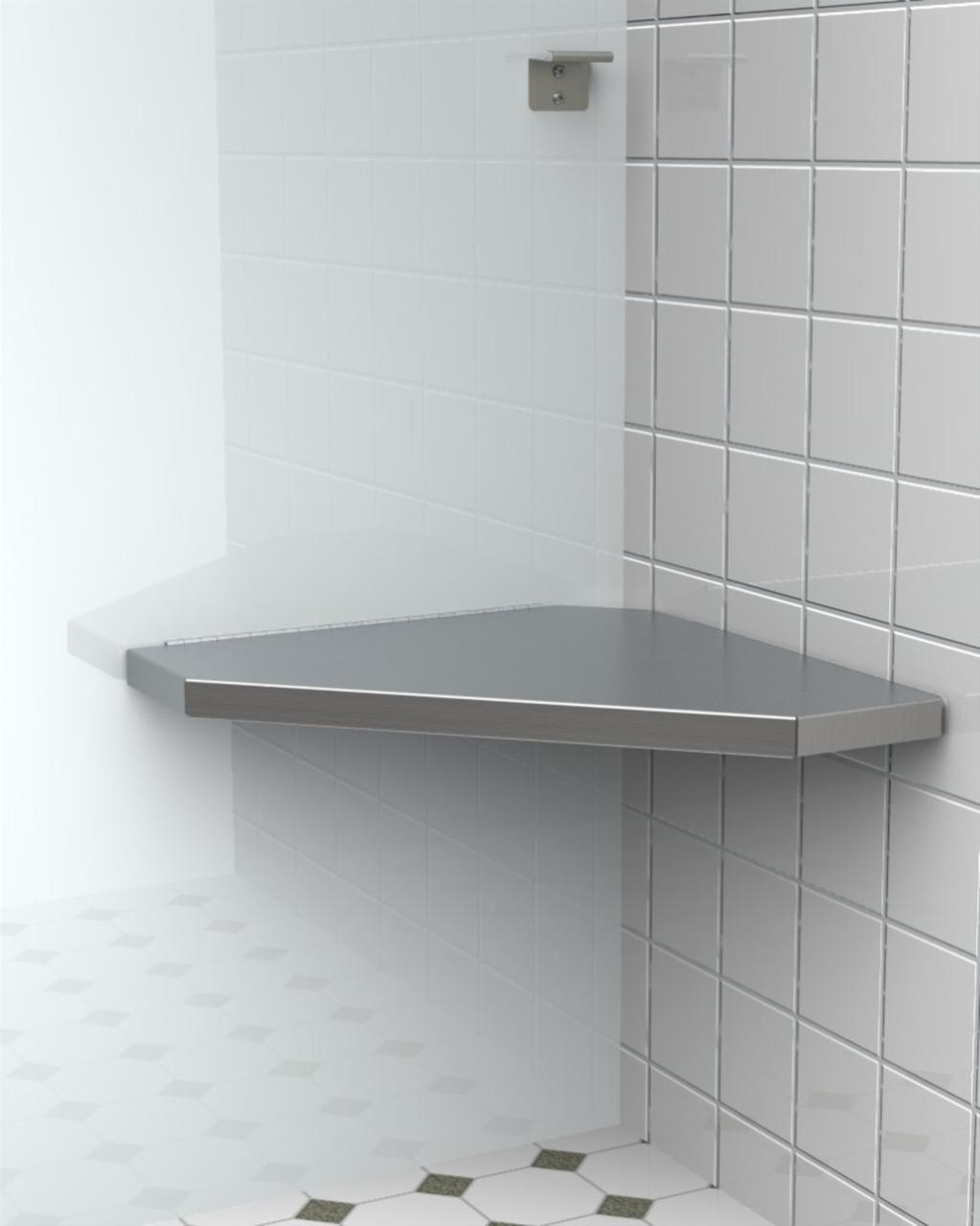 installation of a corner shower seat