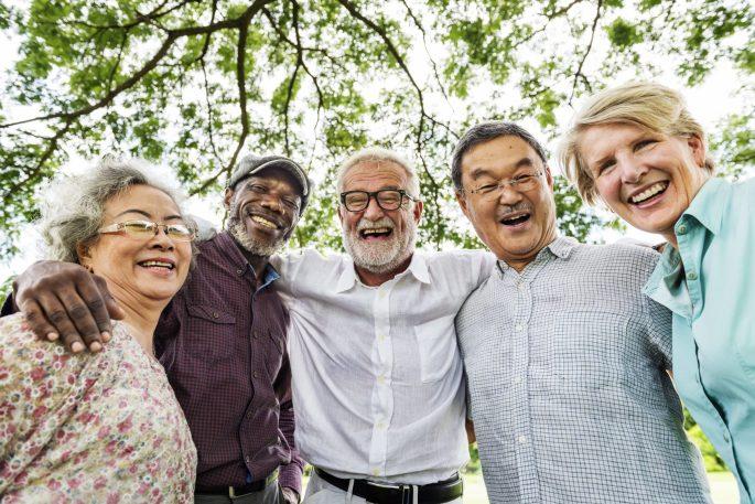 Group of happy seniors