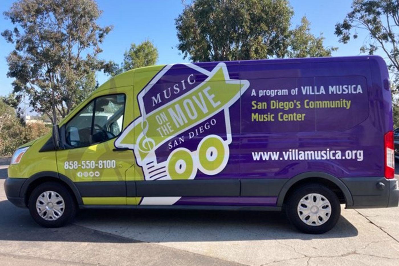 Villa Musica's Music on the Move van