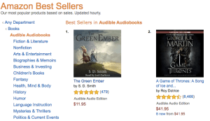 Is The Green Ember the #1 Bestselling Audiobook in the World?