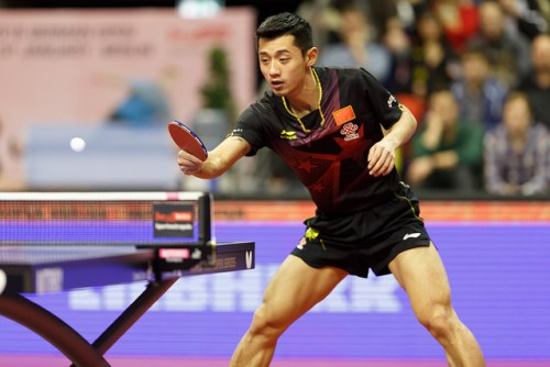 Zhang Jike - photo by Holger Straede