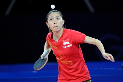 Yu Mengyu - photo by the ITTF