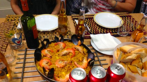 Paella is the most typical dish in Spain and after a month I finally tried it thanks to my roommate who made some.