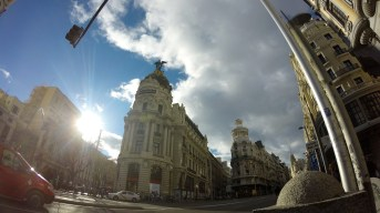 Probably the most photographed building in Madrid, the Metropolis, located in the heart of the city.