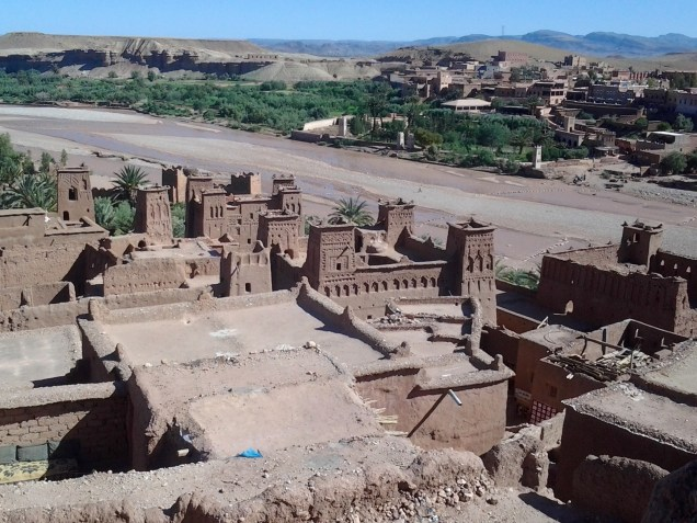 View from above of Kasbah Ait Ben Haddou. The beauty is unbelievable!