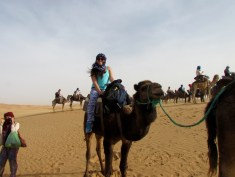 I tried to fit in with the locals by wearing a hijab during my camel ride. It was pretty comfortable to wear.