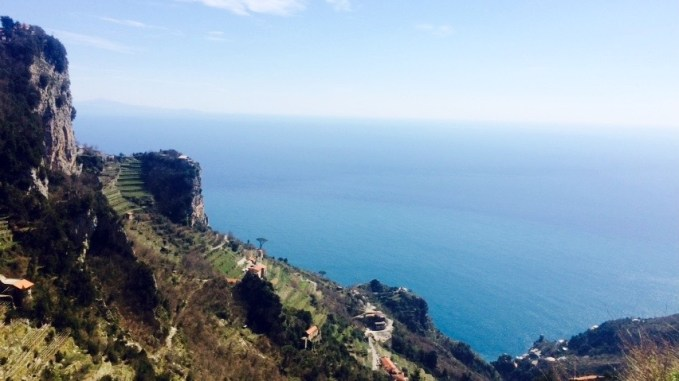 Another day was spent on the Amalfi coast, where we had a picnic on a secluded cliff.