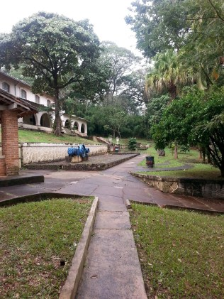 This is the entrance to the Museo do Cafe (Museum of Coffee), located right inside the University of Sao Paolo, campus Ribeirao Preto.