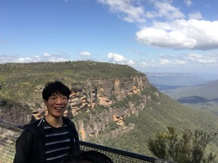 Bang (yes like a gun) and the view from Echo Point Lookout