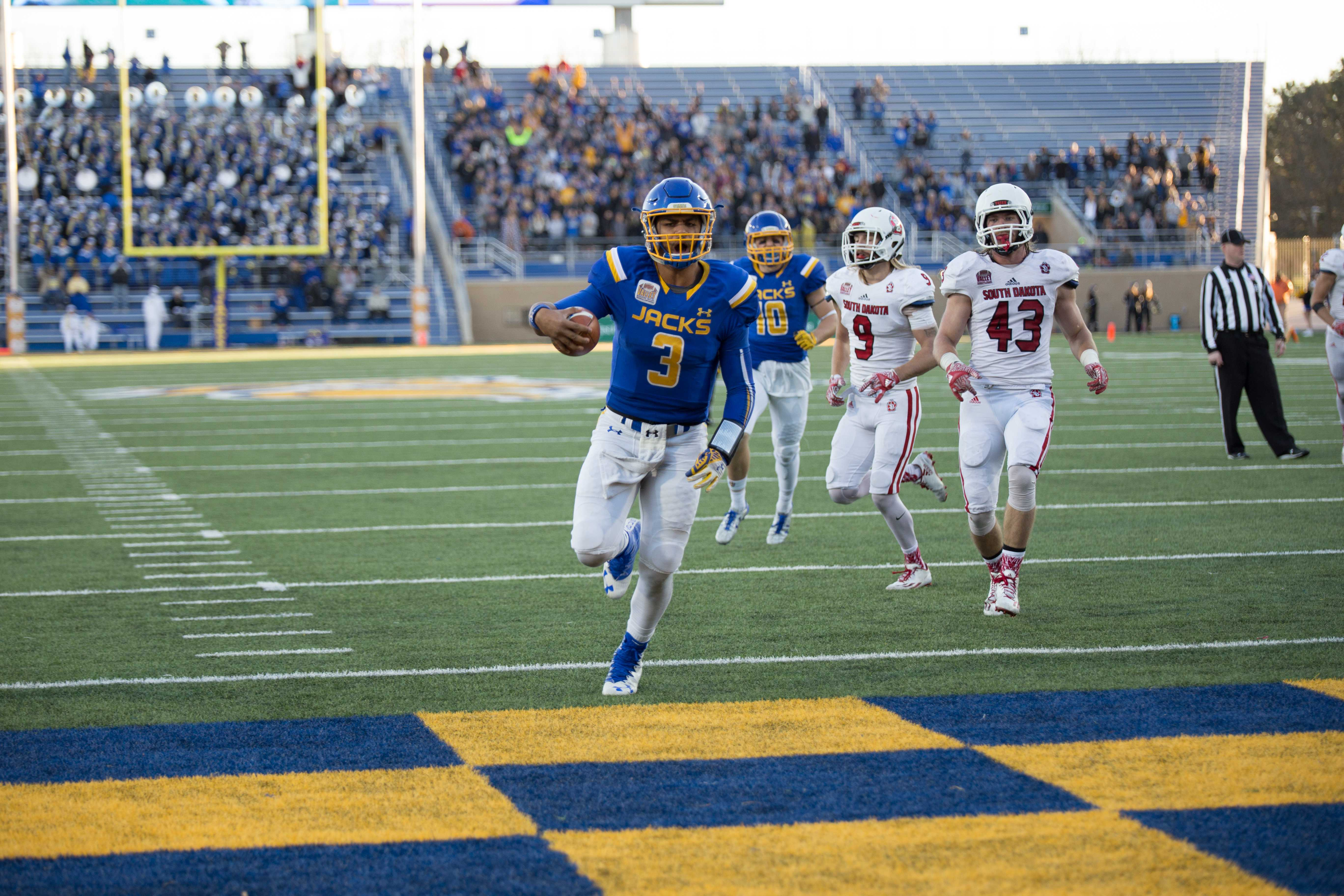 Actions at the football game between South Dakota State and the University of South Dakota. SDSU won 28-21 over the Coyotes.