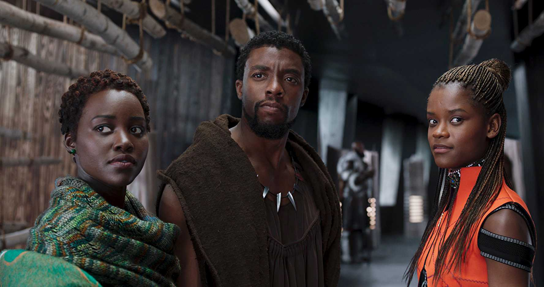 "DISNEY ""Black Panther"" opened with a $201 million opening over the weekend, making it the fifth highest opening of all time and the highest opening in the month of February. Here, Nakia (Lupita Nyong'o), King T'Challa (Chadwick Boseman) and Princess Shuri (Letitia Wright) are seen planning their next move in the film."