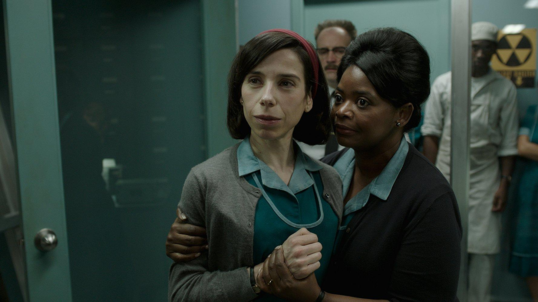 """FOX SEARCHLIGHT PICTURES The Academy Award frontrunner with 13 nominations this year, """"The Shape of Water"""" is directed by veteran filmmaker Guillermo del Toro and led by Sally Hawkins in a mute role for which she is nominated for best actress. The film tells a love story between a maintenance worker and an aquatic humanoid creature."""