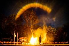 Upacara api unggun kemah dan baksos sd ta'mirul islam 2018