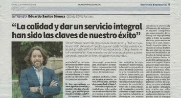 Interview for El Mundo, Excelencia Empresarial, November 15th, 2019