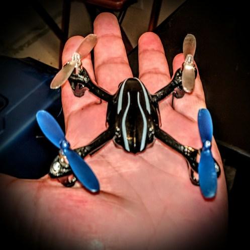 BIG NASTY!  Hubsan X4 H107 Micro Quadcopter.