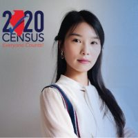 census graphic with Asian woman