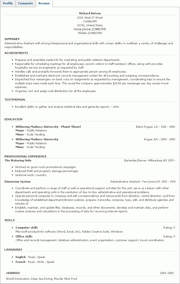 Resume Skill Section. skills section filled out resume examples ...