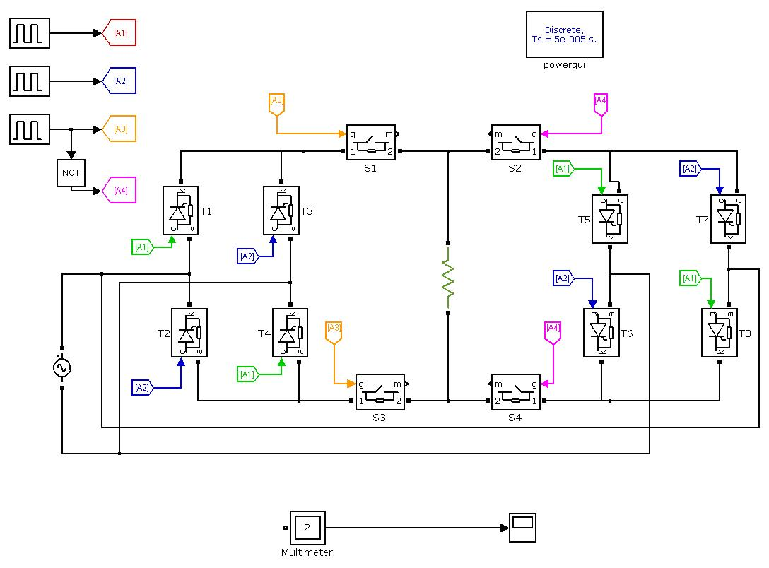 Single Phase To Single Phase Step Down Cycloconverter