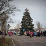 Праздничная церемония открытия городской елки Геническа