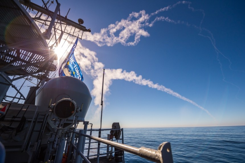 USS Mobile Bay Mission exercise