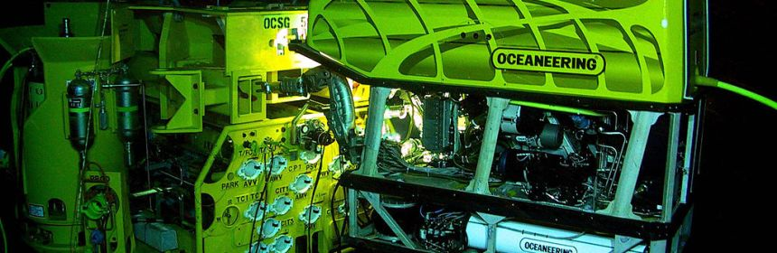 ROV working on subsea structure